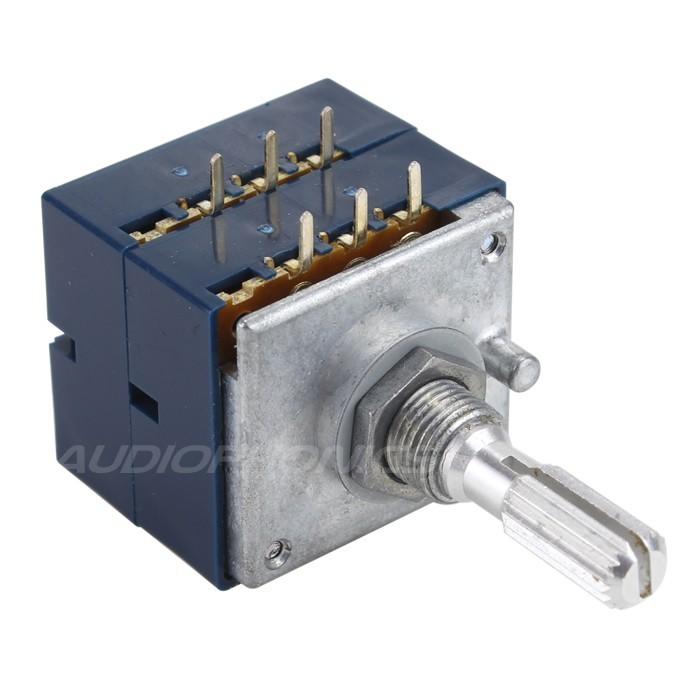 ALPS RK27 Potentiomètre Stéréo Axe Cranté Haute Qualité 100K Ohm