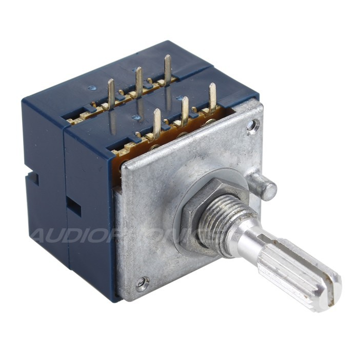ALPS RK27 Stereo Potentiometer Notched Shaft High Quality 250 Kohm