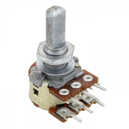 Potentiometer ALPS 16 stereo rouond shaft 50KBX2