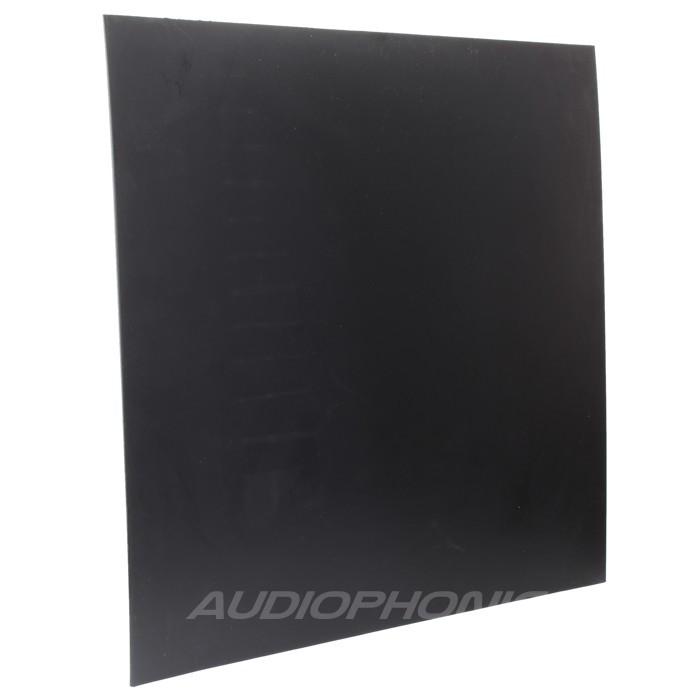 Black HDPE plate 495x495x10mm