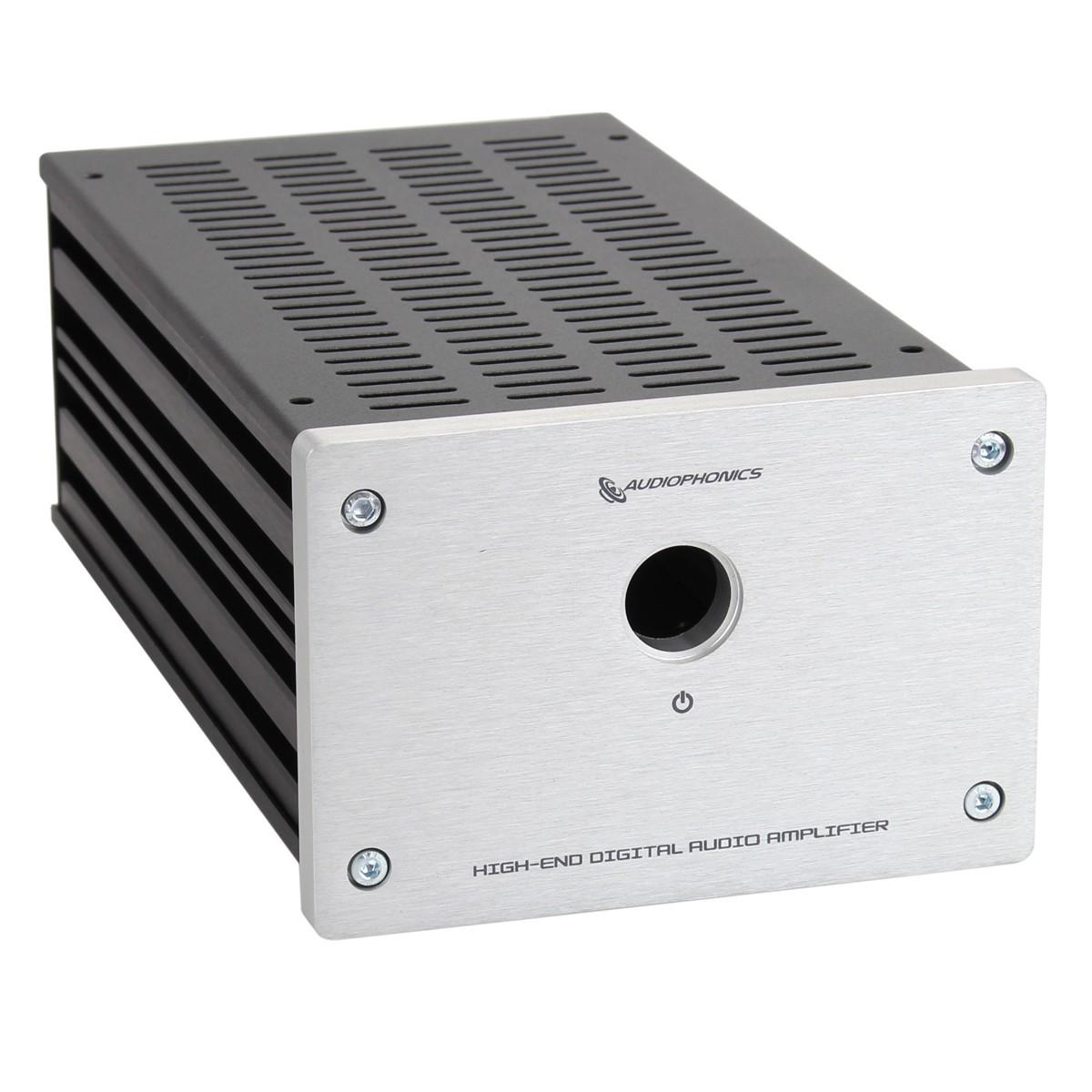 AUDIOPHONICS Boîtier Custom GX183 RCA Fond perforé DIY Silver