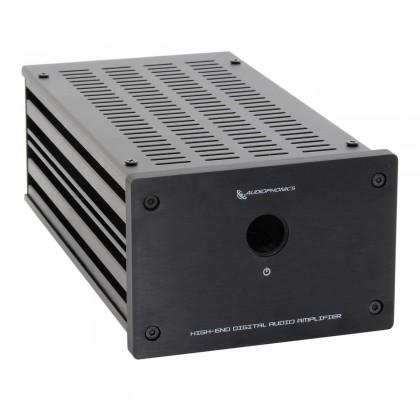 Audiophonics Boîtier Custom GX183 RCA Fond perforé DIY Black
