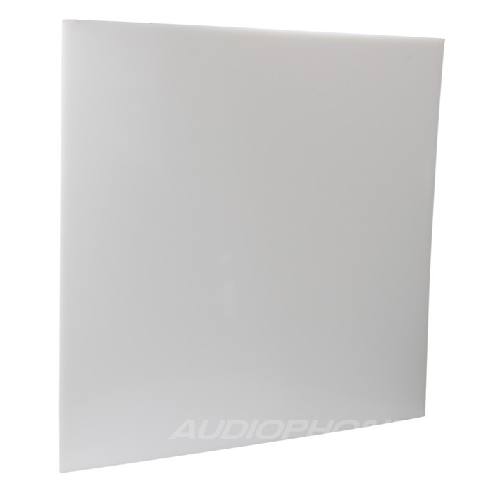 Plaque HDPE blanche 495x495x10mm