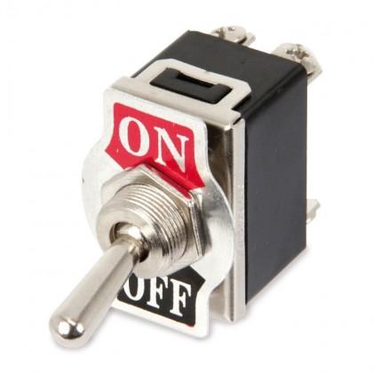 Interrupteur à bascule type Aviation 2 pôles 250V 10A