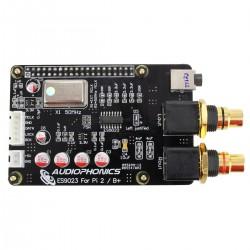 AUDIOPHONICS I-Sabre V2 DAC ES9023 TCXO Raspberry Pi 3 / Pi 2 A+ B+ / I2S