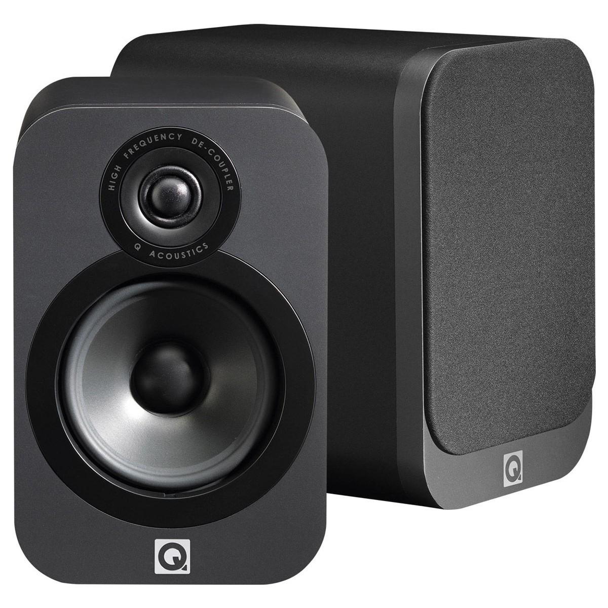 Q acoustics 3020 Bookshelf Speakers Graphite Black (pair)