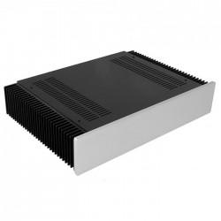 HIFI 2000 Case 2U Heatsink Aluminum 300mm Facade 10mm Silver