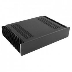 HIFI 2000 Boitier 2U Dissipateur Aluminium 300mm Facade 10mm Noir