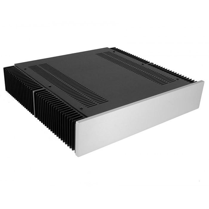 HIFI 2000 Case 2U Heatsink Aluminum 400mm Facade 10mm Silver