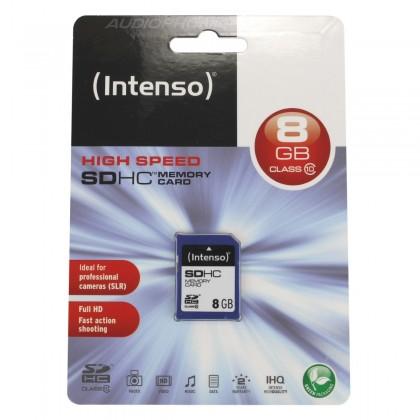 Intenso High Speed Carte mémoire SD HC Haute performance 8GB