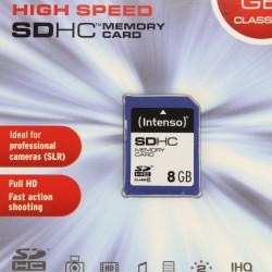 Intenso High Speed SD HC Memory Card 8GB