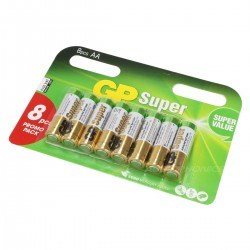 GP Super LR06 AA Battery 1.5V (Set x8)