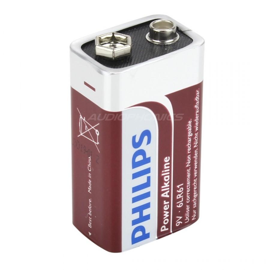 philips power alkaline pile 6lr61 9v l 39 unit audiophonics. Black Bedroom Furniture Sets. Home Design Ideas