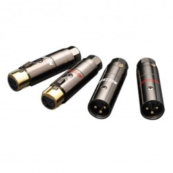 NEOTECH NEX-OCC GD Gold Plated UP-OCC Copper 3 Way Male / Female XLR Connectors Ø13mm (Set x4)