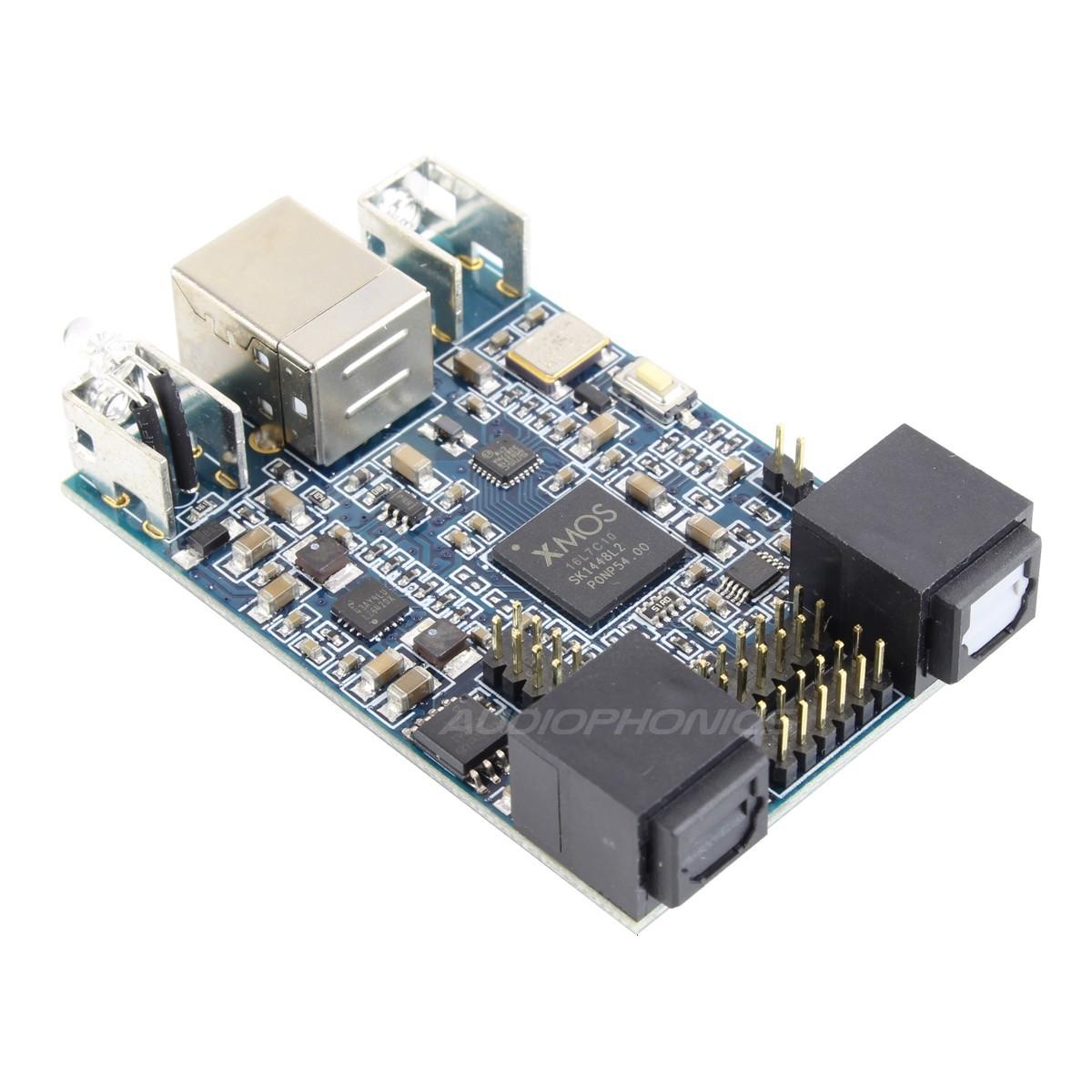 MiniDSP USBStreamer Kit Interface multicanal USB vers Optique Toslink / ADAT & I2S XMOS