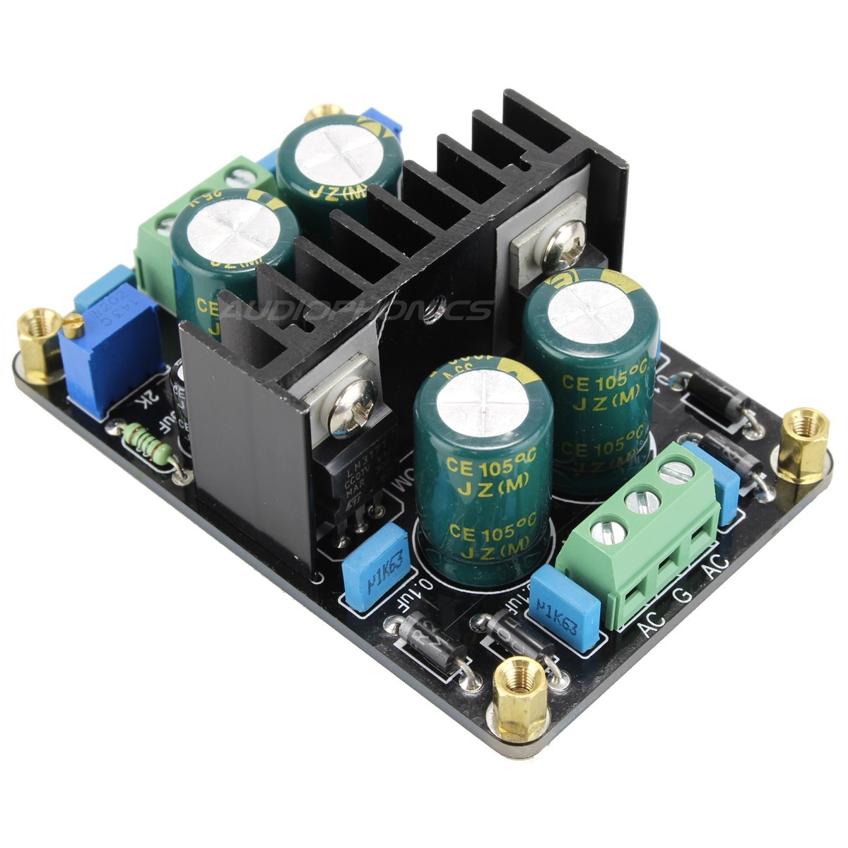 Regulated Linear Power Supply AC-DC LM317 / LM337 24V 1A