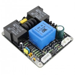 Power on and delay softstart board and protection for amplifier