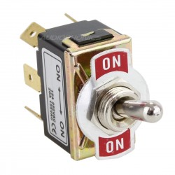 2 Pole 2 Positions Aviation Type Toggle Switch ON-ON 250V 15A
