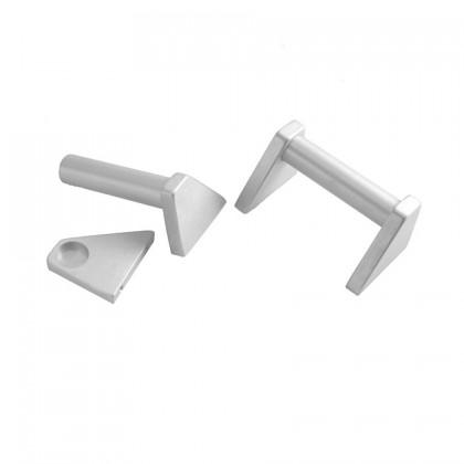 Poignées aluminium 3U Silver (La paire)