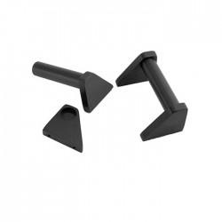 Poignées aluminium 3U Noire (La paire)
