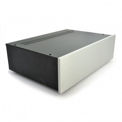 Hi-Fi 2000 - Boitier 3U 300mm - Facade 10mm Silver
