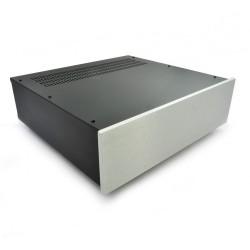 HIFI 2000 Case 3U 400mm - Front 10mm Silver
