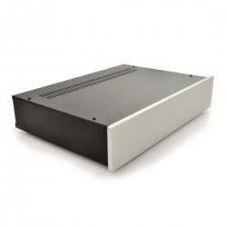 HIFI 2000 Case 2U 300mm - Front 10mm Silver