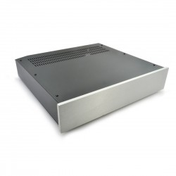 HIFI 2000 - 2U Chassis 400mm - 10mm front Silver