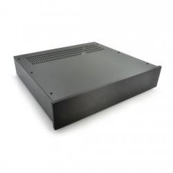 HIFI 2000 Boitier 2U 400mm - Facade 10mm Noir