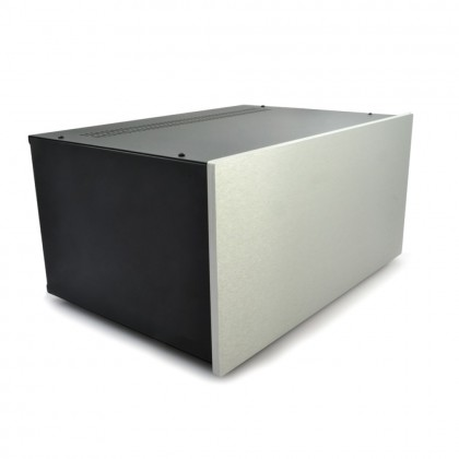 HIFI 2000 5U Chassis 400mm - 10mm front Silver