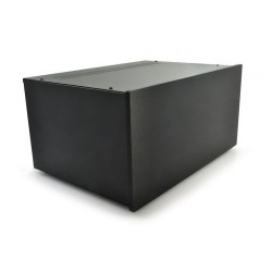 HIFI 2000 Boitier 5U 400mm - Facade 10mm Noir