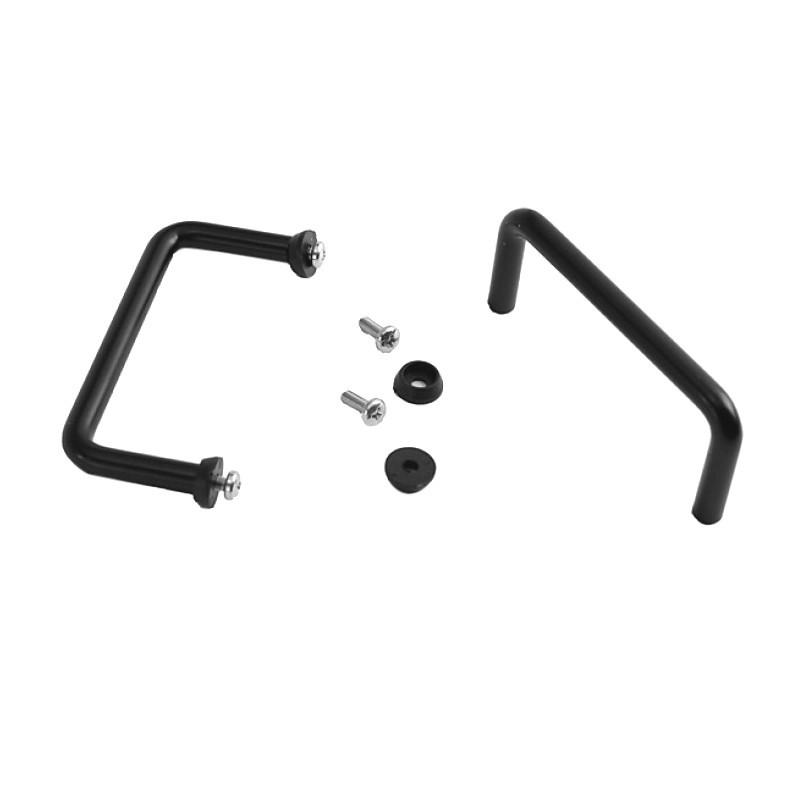 HIFI 2000 Poignées tubulaires 3U Noir (La paire)