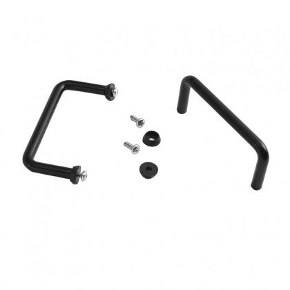 HIFI 2000 Poignées tubulaires 2U Noir (La paire)