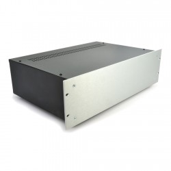 HIFI 2000 3U Chassis 300mm - 4mm front Silver
