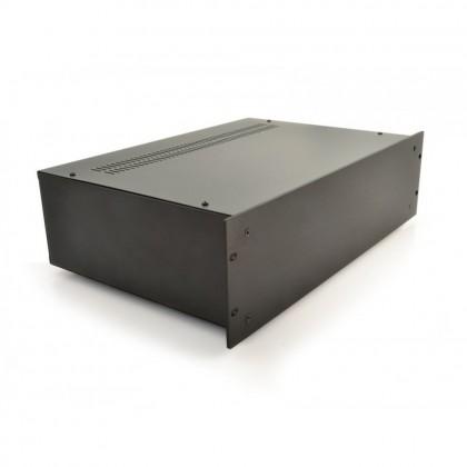 HIFI 2000 Boitier 3U 300mm - Facade 4mm Noir
