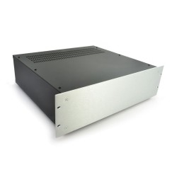 HIFI 2000 3U Chassis 400mm - 4mm front Silver