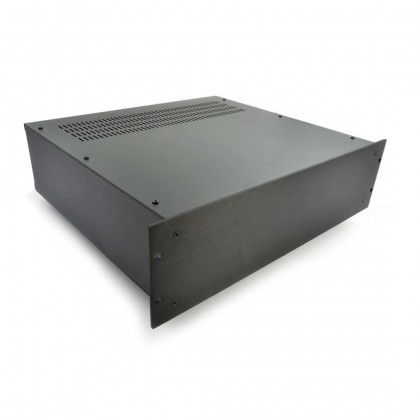 HIFI 2000 Boitier 3U 400mm - Facade 4mm Noir