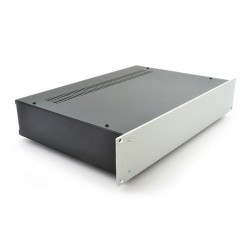 HIFI 2000 2U Chassis 300mm - 4mm front Silver