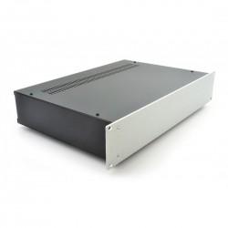 HIFI 2000 Case 2U 300mm - Front 4mm Silver