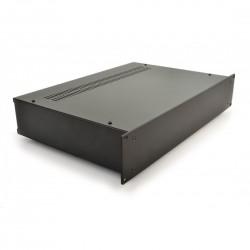 HIFI 2000 Boitier 2U 300mm - Facade 4mm Noir