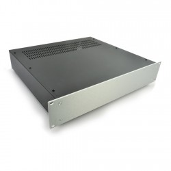HIFI 2000 2U Chassis 400mm - 4mm front Silver