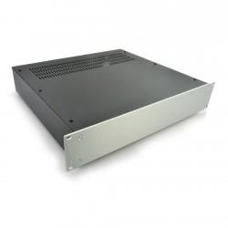 HIFI 2000 Case 2U 400mm - Front 4mm Silver
