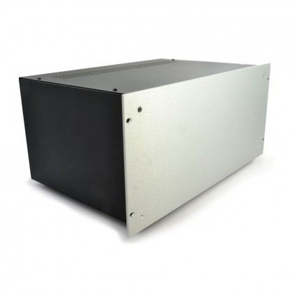 HIFI 2000 5U Chassis 400mm - 4mm front Silver