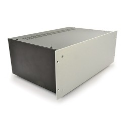 HIFI 2000 4U Chassis 300mm - 4mm front Silver