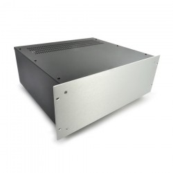 HIFI 2000 4U Chassis 400mm - 4mm front Silver