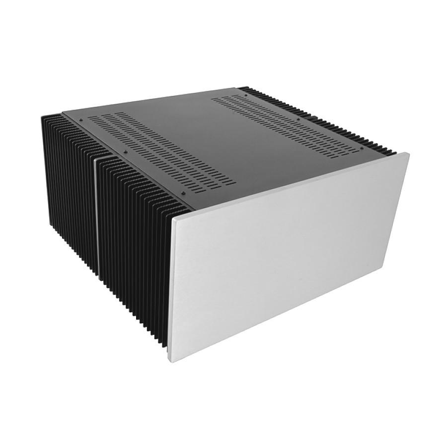 HIFI 2000 Heatsink Case 4U 400mm - Front 10mm Silver