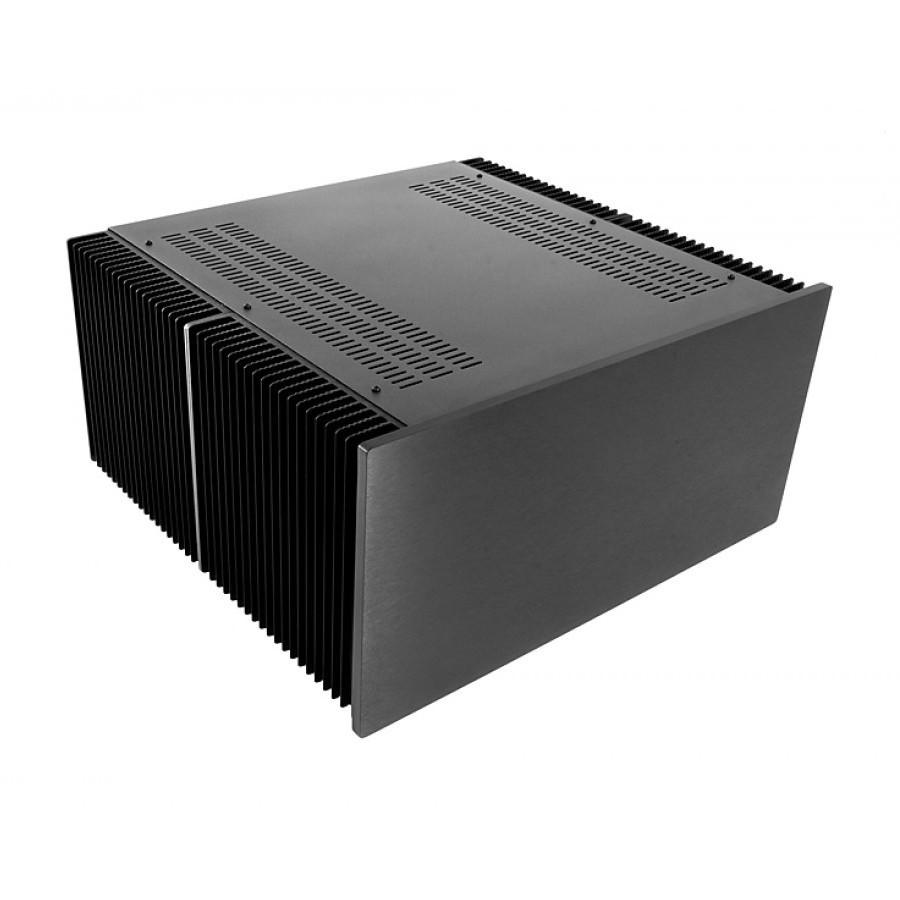 HIFI 2000 Boitier dissipateur 4U 400mm - Facade 10mm Noir