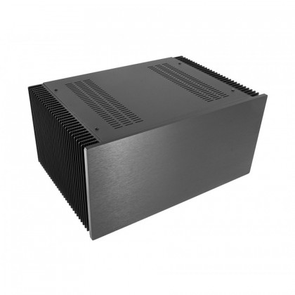 HIFI 2000 Boitier dissipateur 4U 300mm - Facade 10mm Noir