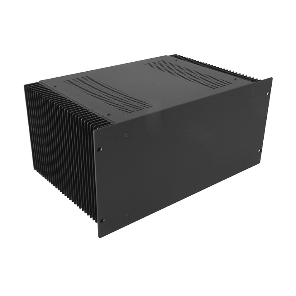 HIFI 2000 Heatsink Case 4U 300mm - Front 4mm Black
