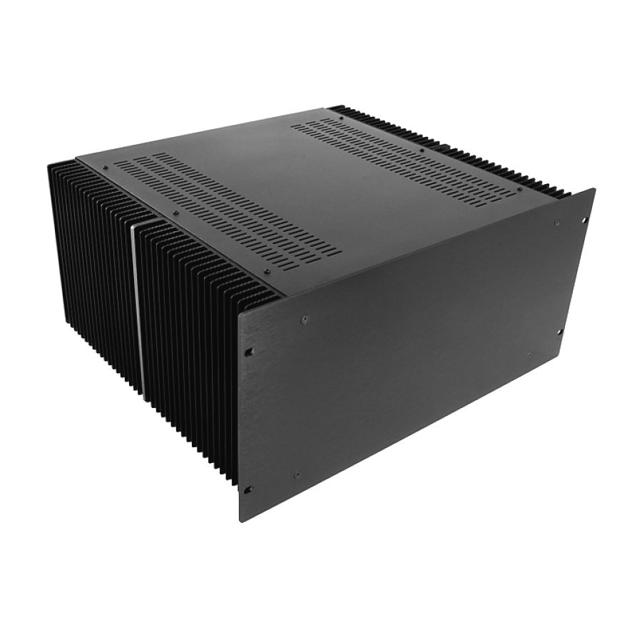 HIFI 2000 Heatsink Case 4U 400mm - Front 4mm Black
